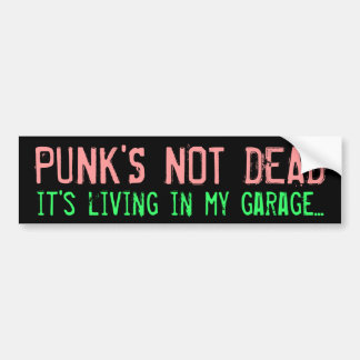 """Sticker van de Bumper van de """"punker de niet Dode"""""""