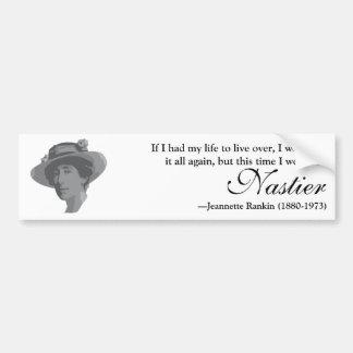 Sticker van de Bumper van het Citaat van de Vrouw