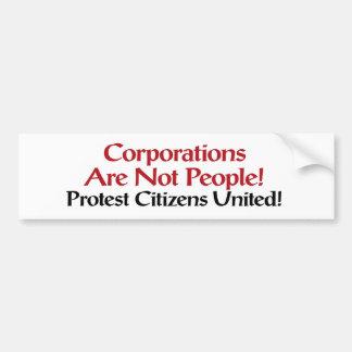 Sticker van de Bumper van het protest de Burgers V
