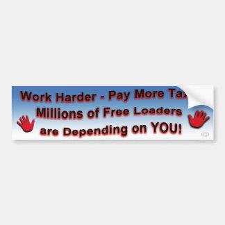 Sticker van de Bumper van het werk de Hardere
