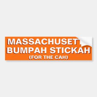 Sticker van de Bumper van Massachusetts Bumpah Bumpersticker