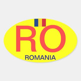 Sticker van de Bumper van Romania* de Ovale