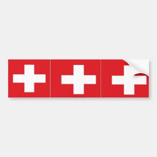 Sticker van de de vlagbumper van Zwitserland de Zw