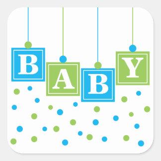 Sticker van de Jongen van de Blokken van het BABY