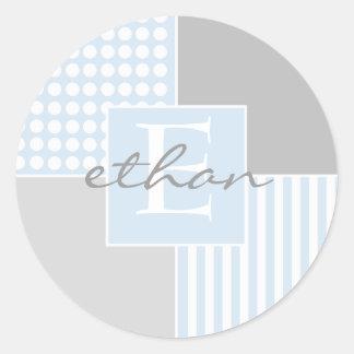 Sticker van de Jongen van het baby de Blauwe