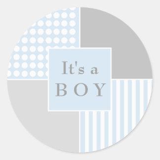 Sticker van de Jongen van het baby de Blauwe Moder