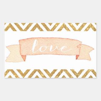 Sticker van de Liefde van de Chevron van de Banner