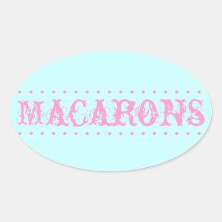 Sticker van de Lijst van het Dessert van Macarons