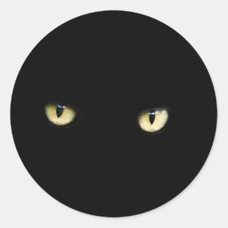 Sticker van de Ogen van de Kat van Halloween de