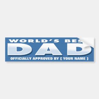 Sticker van de Papa van de wereld de Beste