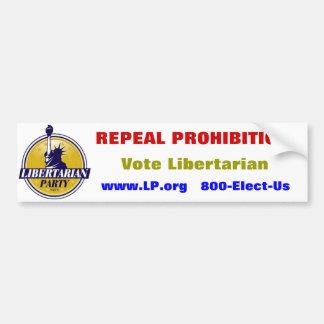 """Sticker van de Partij """"van het Verbod van de herro Bumpersticker"""
