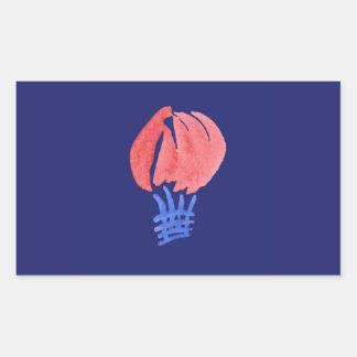 Sticker van de Rechthoek van de Ballon van de