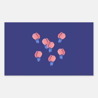 Sticker van de Rechthoek van de Ballons van de