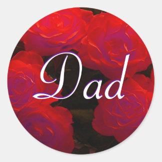 Sticker van de Rozen van de papa de Rode
