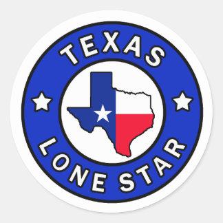 Sticker van de Ster van Texas de Eenzame