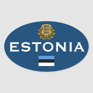 Sticker van de Stijl van Estland de Europese Ovale