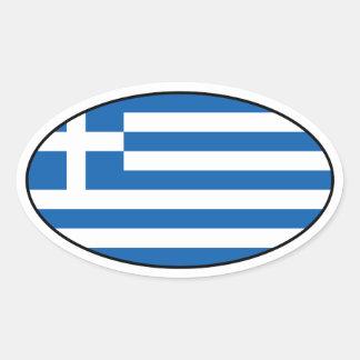 Sticker van de Vlag van Griekenland de Ovale