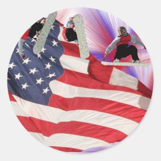 Sticker van de Vlag van Snowboard de Amerikaanse