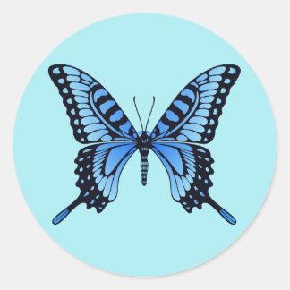 Sticker van de Vlinder van Rounnd de Blauwe
