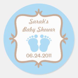 Sticker van de Voeten van het baby de Blauwe Ronde