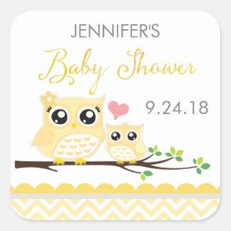 Sticker van het Baby shower van de uil/Etiket |
