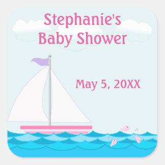 Sticker van het Baby shower van het Meisje van de