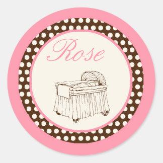 Sticker van het Baby shower van het Meisje van het