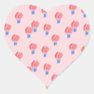Sticker van het Hart van de Ballons van de lucht