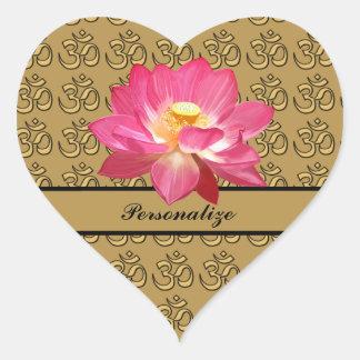 Sticker van het Hart van OM van de Bloem van Lotus