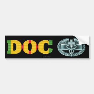 Sticker van het Kenteken van het Gevecht van doc.