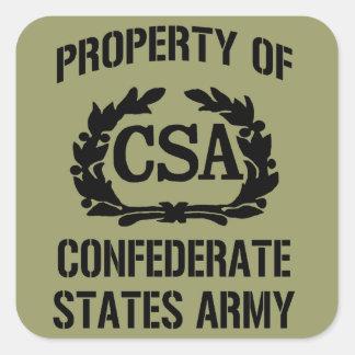 Sticker van het Leger van de Staten van het bezit