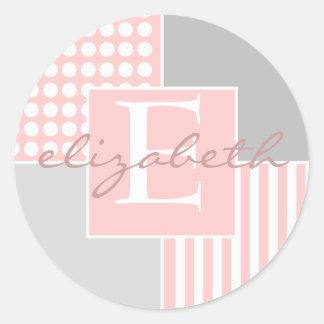 Sticker van het Meisje van het baby de Roze