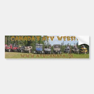 Sticker van het Overzicht van ATV Canada de Witte