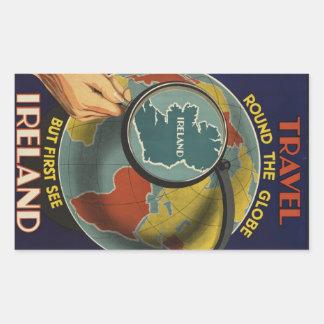 Sticker van het Poster van de Reis van Ierland de