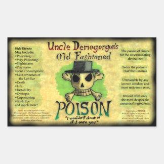 Sticker van het Vergift van oom Demogorgon s de Ou