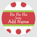 Sticker van Kerstmis van Ho van Ho de Ho