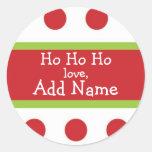 Sticker van Kerstmis van Ho van Ho de Ho Gepersona