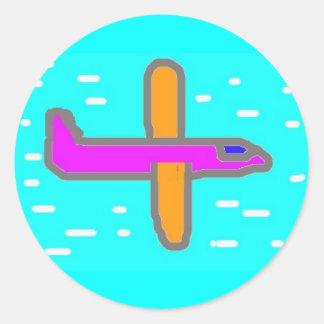 Sticker van vliegtuig