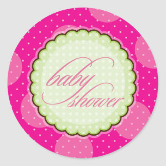 STICKER/VERBINDING:: helder baby shower - Ronde Sticker