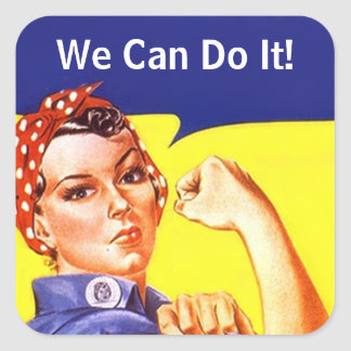 Sticker Vintage Rosie de Klinkhamer kunnen wij het