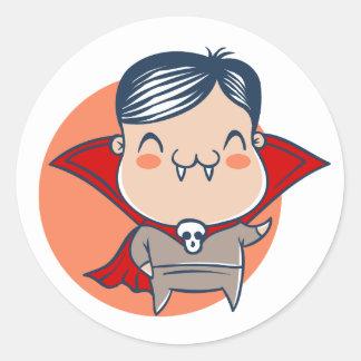 Sticker voor Halloween met vampier Dracula