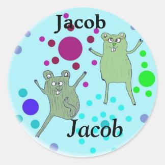 sticker voor naam:  Jacob