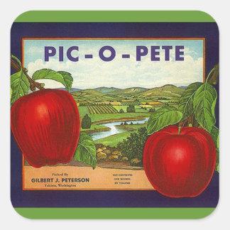 Sticker Wijnoogst Adverterene pic-o-Pete Pete