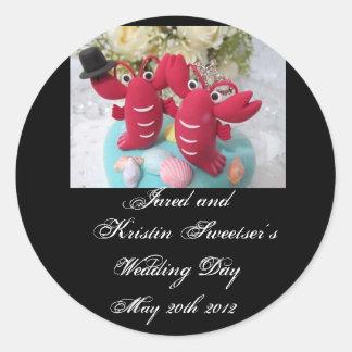 Stickers 2 van het Huwelijk van de zeekreeft