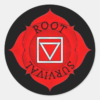 Stickers Chakra van de Chi van de Overleving van