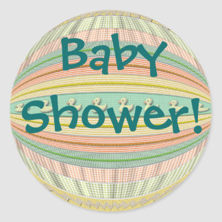 """Stickers - Eenden in een Rij - """"Baby shower! """""""