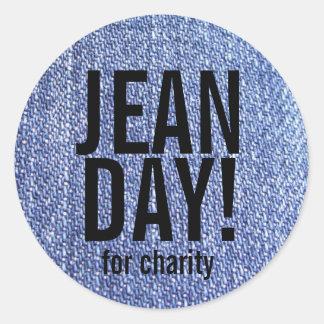 Stickers van de Dag van de Jeans van Faux de