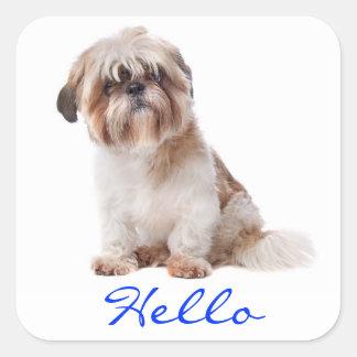 Stickers van de Groet van de Hond van het Puppy