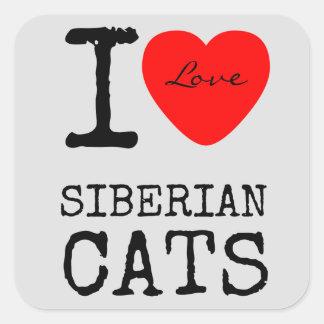 Stickers van de Katten van de liefde de Siberische