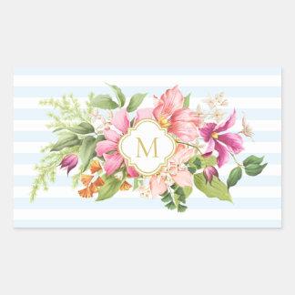 Stickers van de Pastelkleur van de Vintage Bloemen